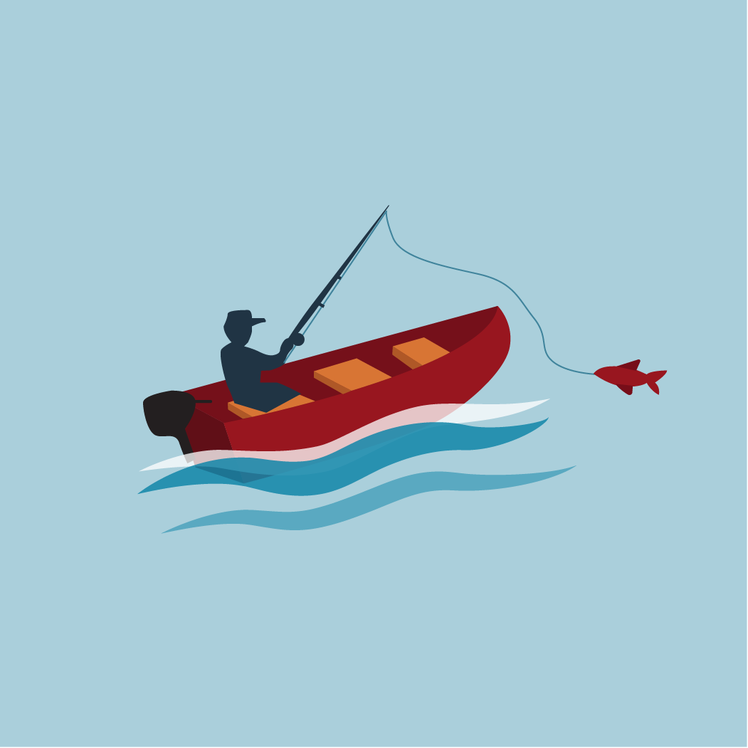 icon of guy fishing from a boat