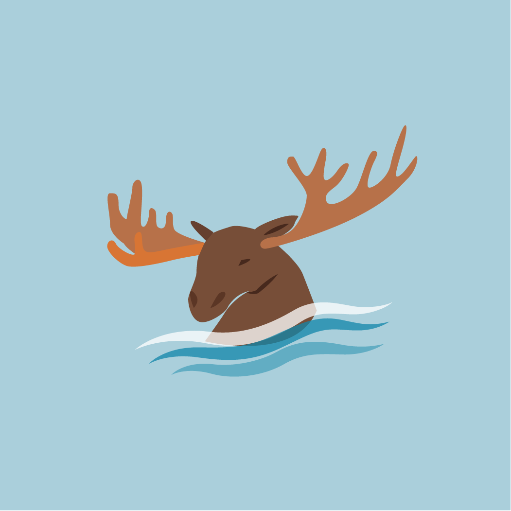 icon of moose in the water